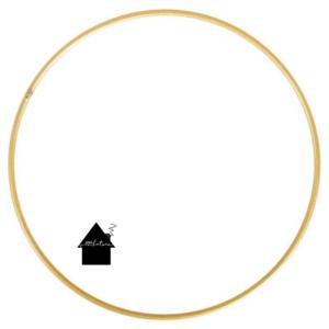Goud gecoat metalen ring