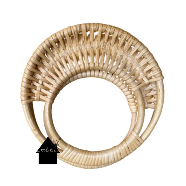 Bamboe tashengsel rond van 18 cm