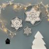 gehaakte kerststerren