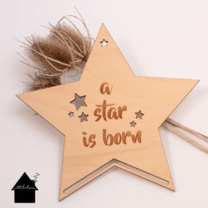 houten ster voor macrame projecten