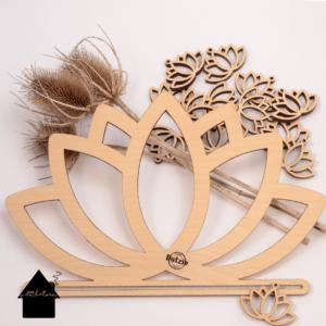houten ornamenten lotus