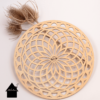 houten mandala groot voor macrame projecten