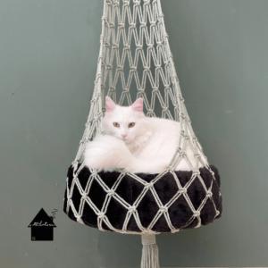 macramé kattenbed