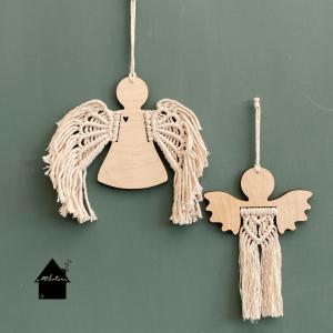 houten ornament angel dress