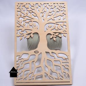 houten ornament levensboom